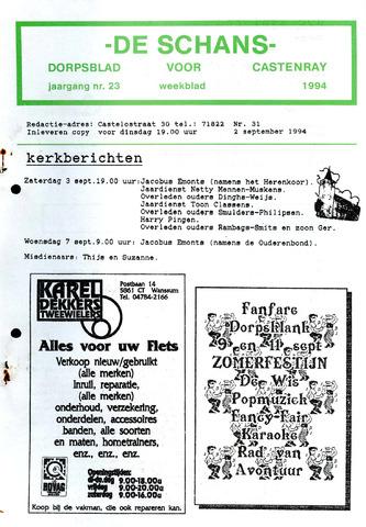 Castenrays dorpsblad De Schans 1994-09-02