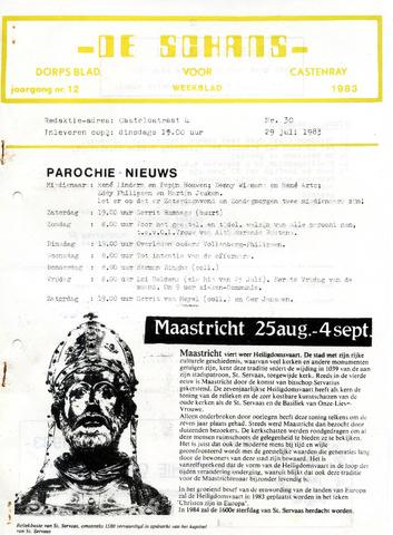 Castenrays dorpsblad De Schans 1983-07-29