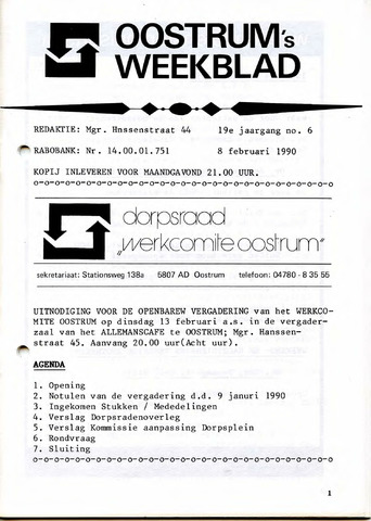 Oostrum's Weekblad 1990-02-08