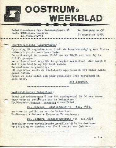 Oostrum's Weekblad 1975-08-21