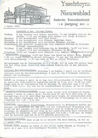 Ysselsteyns Nieuwsblad 1975-04-04