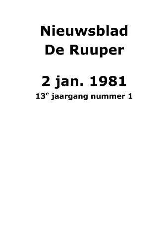 Dorpsblad Leunen-Veulen-Heide 1981