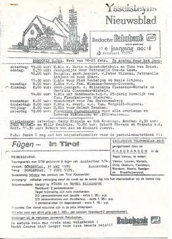 Ysselsteyns Nieuwsblad 1979-02-16