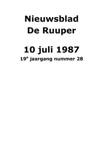 Dorpsblad Leunen-Veulen-Heide 1987-07-10