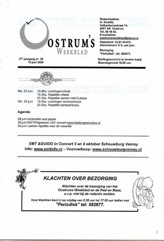 Oostrum's Weekblad 2008-06-19