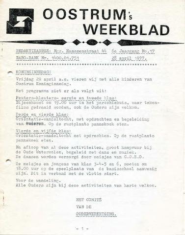 Oostrum's Weekblad 1977-04-28