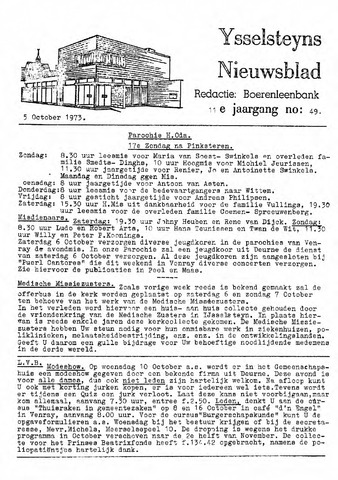 Ysselsteyns Nieuwsblad 1973-10-05