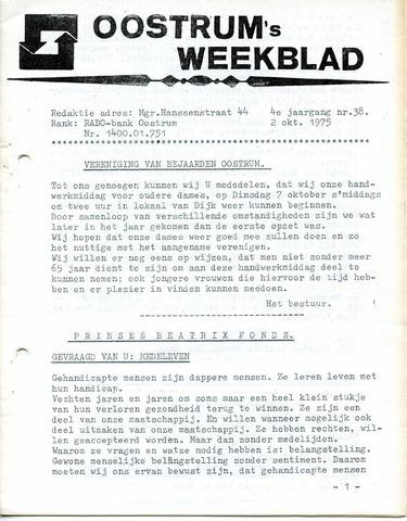 Oostrum's Weekblad 1975-10-02