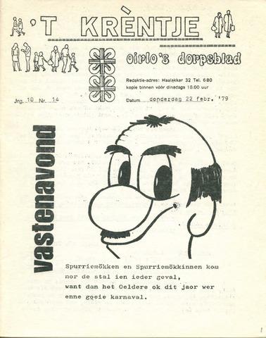 Oirlo's dorpsblad 't Krèntje 1979-02-22