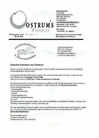 Oostrum's Weekblad 2009-05-28