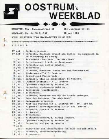 Oostrum's Weekblad 1984-05-23