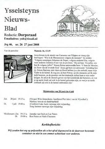 Ysselsteyns Nieuwsblad 2008-06-27