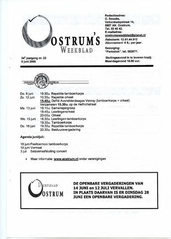 Oostrum's Weekblad 2005-06-09