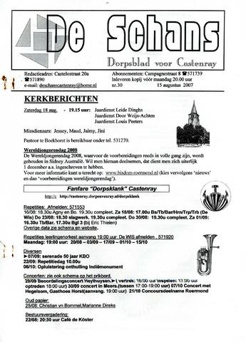 Castenrays dorpsblad De Schans 2007-08-15