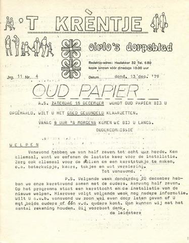Oirlo's dorpsblad 't Krèntje 1979-12-13