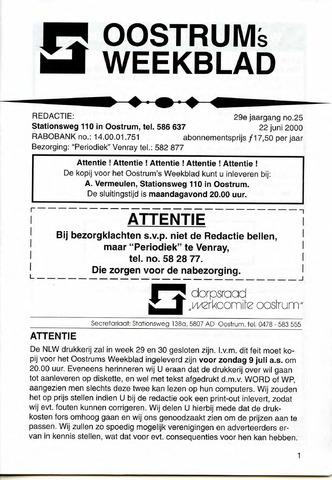 Oostrum's Weekblad 2000-06-22