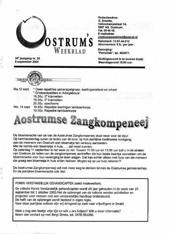 Oostrum's Weekblad 2005-09-08