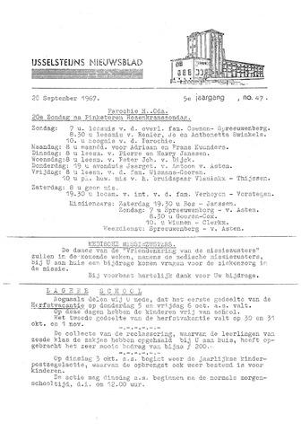 Ysselsteyns Nieuwsblad 1967-09-28