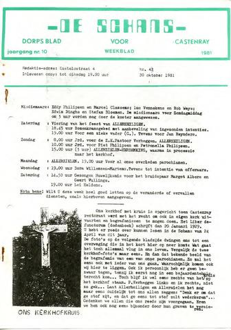 Castenrays dorpsblad De Schans 1981-10-30