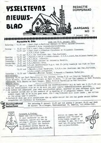 Ysselsteyns Nieuwsblad 1983-01-07