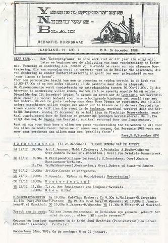 Ysselsteyns Nieuwsblad 1988-12-16