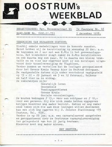 Oostrum's Weekblad 1978-12-07