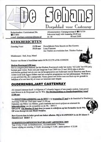 Castenrays dorpsblad De Schans 2009-05-06