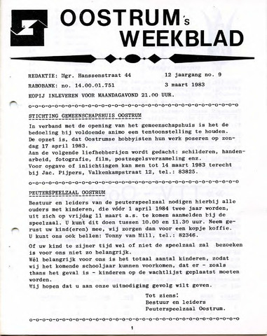Oostrum's Weekblad 1983-03-03
