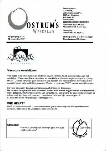 Oostrum's Weekblad 2007-09-13