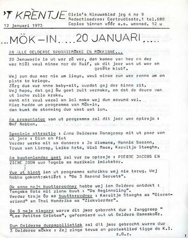Oirlo's dorpsblad 't Krèntje 1973-01-12