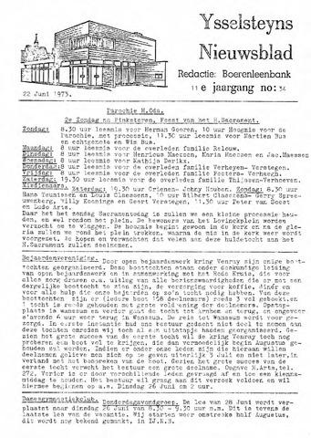 Ysselsteyns Nieuwsblad 1973-06-22