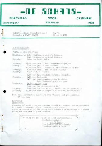 Castenrays dorpsblad De Schans 1978-04-21