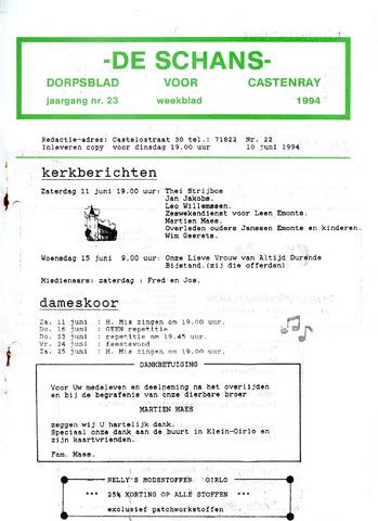 Castenrays dorpsblad De Schans 1994-06-10