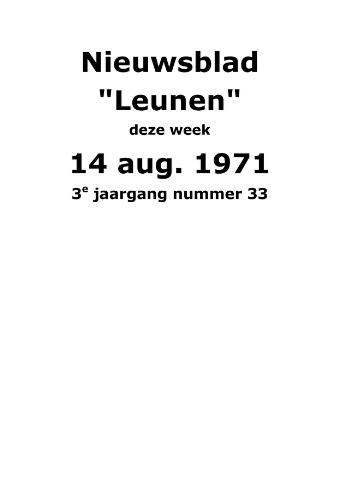 Dorpsblad Leunen-Veulen-Heide 1971-08-14