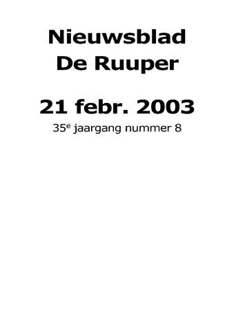 Dorpsblad Leunen-Veulen-Heide 2003-02-21