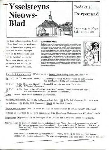 Ysselsteyns Nieuwsblad 1994-07-22