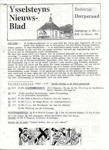 Ysselsteyns Nieuwsblad 1994-02-25