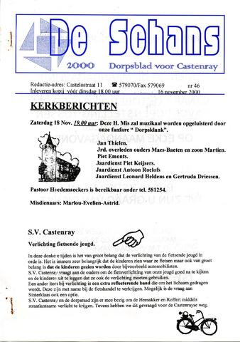 Castenrays dorpsblad De Schans 2000-11-16