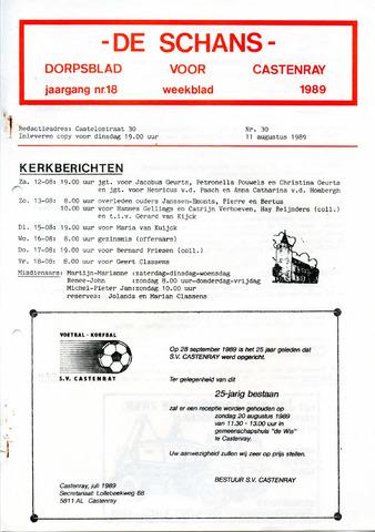 Castenrays dorpsblad De Schans 1989-08-11