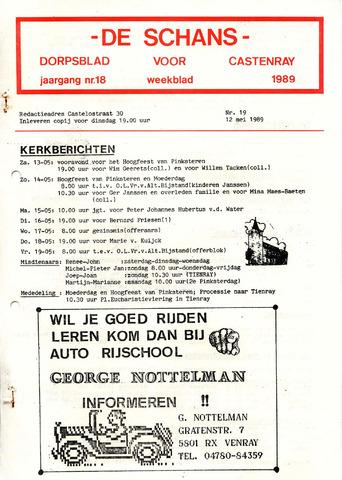Castenrays dorpsblad De Schans 1989-05-12