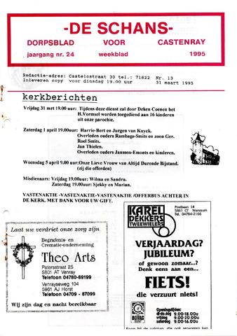Castenrays dorpsblad De Schans 1995-03-31