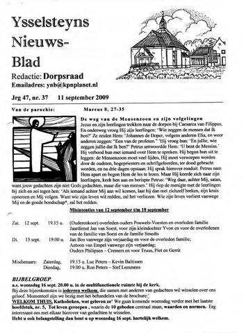 Ysselsteyns Nieuwsblad 2009-09-11