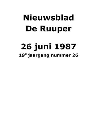 Dorpsblad Leunen-Veulen-Heide 1987-06-26