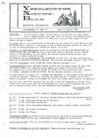 Ysselsteyns Nieuwsblad 1991-01-18