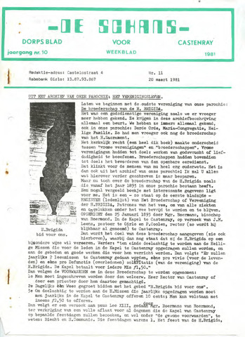 Castenrays dorpsblad De Schans 1981-03-20