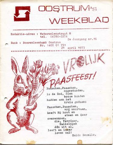 Oostrum's Weekblad 1973-04-21