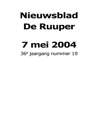 Dorpsblad Leunen-Veulen-Heide 2004-05-07