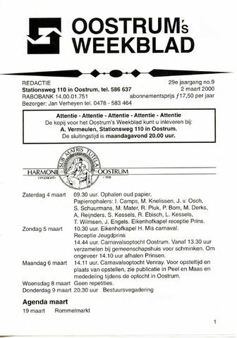 Oostrum's Weekblad 2000-03-02
