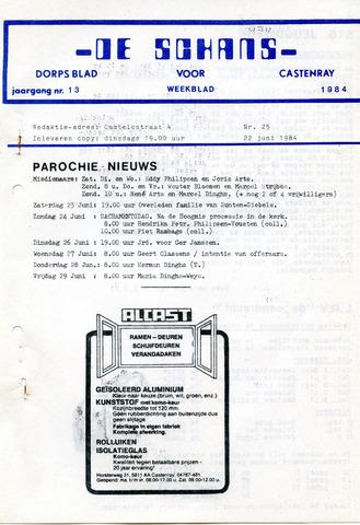 Castenrays dorpsblad De Schans 1984-06-22