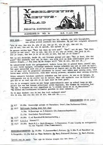Ysselsteyns Nieuwsblad 1988-07-08